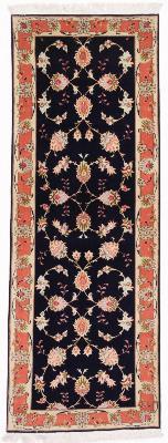 6x2 Tabriz Persian rug runner. Long runner Tabriz carpet with silk.