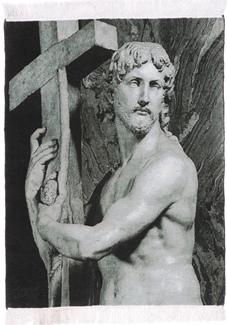 Pictorial Biblical Jesus Tabriz Persian Rug