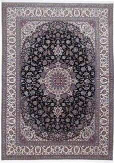 Nain 6Lah fine Persian rug. Handmade Nain Persian carpet with silk 500KPSI
