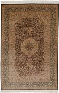7x5 800 kpsi pure silk Qum Persian rug