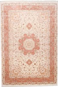 16x11 55 Raj silk Behnami Tabriz Persian rug. Signed Benami Tabriz Persian carpet