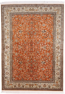 7x5 350KPSI silk Kashmir Persian rug, 18/18 kashmir carpet