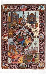 Pictorial 4-Season Tabriz Persian rug