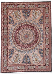 11x8 Jafari Gonbad Tabriz Persian rug. Dome Design Gombad Tabriz Persian carpet.