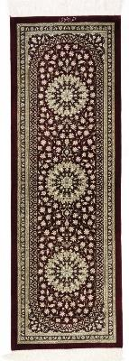 Twin pure silk Qum Persian rug runners - Versace Design