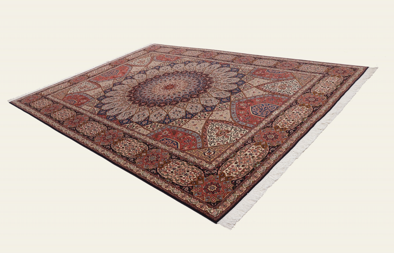 11x8 Gonbad Tabriz Persian rug. Dome Design Gombad Tabriz Persian carpet.