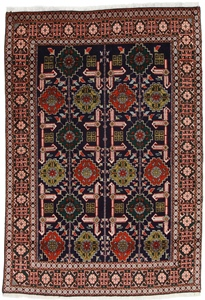 4x3 Mahi Tabriz Persian rug with silk