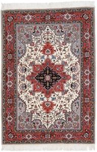 5x3 Tabriz Persian rug with silk