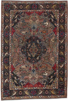 Antique Tabriz Silk Persian Rug