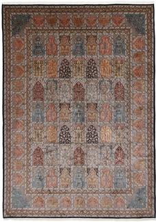 10x8 350KPSI silk Kashmir Persian rug, Single Knot kashmir carpet