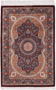 700 KPSI Pure Silk Qum Persian rug
