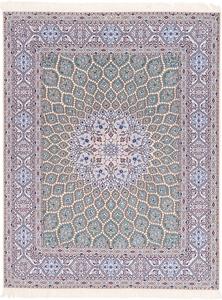 Nain 6Lah 500KPSI Gonbad Persian rug. Very fine Nain Persian carpet with silk
