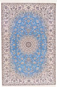 Nain 6Lah 500KPSI Persian rug. Very fine Nain Persian carpet with silk