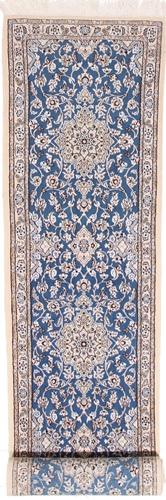 13' runner Nain 9Lah Persian rug. Wool 9La Nain Persian carpet with silk