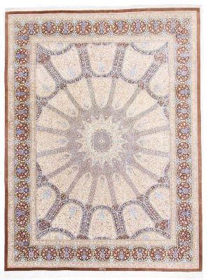 13'x10' 750 kpsi Qum pure silk Gonbad Persian rug