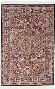 5x3 Pure Silk Qum Gonbad Persian rug