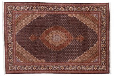 10x7 mahi tabriz persian rug with 350 kpsi.