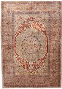 Haj Jalili silk Tabriz antique rug